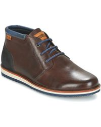 Pikolinos - Biarritz M5a Men's Mid Boots In Brown - Lyst