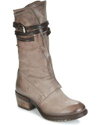 A.S.98 - Corn Women's Mid Boots In Grey - Lyst
