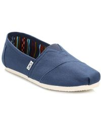 ce5a4c3ea11 TOMS - Mens Navy Canvas Classic Espadrilles Men s Slip-ons (shoes) In Blue