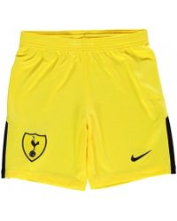 Nike - 2017-2018 Tottenham Home Goalkeeper Shorts - Kids Women's Shorts In Yellow - Lyst