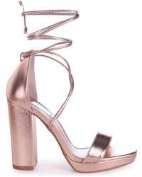 Linzi - Summer Women's Sandals In Gold - Lyst