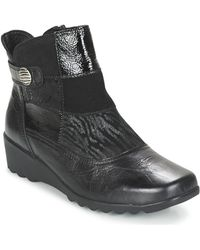 Romika - Carree 16 Women's Low Ankle Boots In Black - Lyst