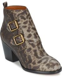 Marc By Marc Jacobs | Buckle Boot Ankle Boot Heel Women's Low Ankle Boots In Grey | Lyst