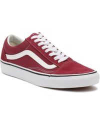e96979005cc5 Vans - Dry Rose Red   True White Old Skool Trainers Men s Shoes (trainers)