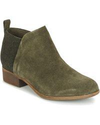 TOMS - Deia Women's Mid Boots In Green - Lyst