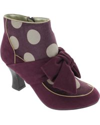 Ruby Shoo - Seren Women's Low Ankle Boots In Purple - Lyst