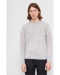 Farah | Rosecroft Lambswool Jumper Grey Men's Sweater In Grey | Lyst