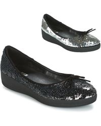 Fitflop - Superballerina With Sequins Women's Shoes (pumps / Ballerinas) In Black - Lyst