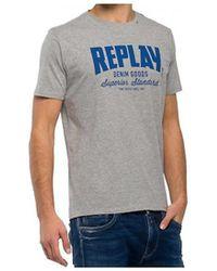 Replay - M34812660m02 Men's T Shirt In Grey - Lyst