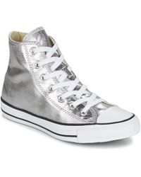 Converse | Chuck Taylor All Star Metallics Hi Women's Shoes (high-top Trainers) In Silver | Lyst
