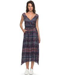 Roxy - Vestido Erjwd03210-bnd7 Multicolour Largo Women's Long Dress In Multicolour - Lyst