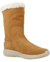 Skechers - On The Go City 2 Pleasing Women's Low Ankle Boots In Beige - Lyst