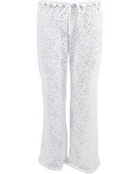 Banana Moon - Beach Trousers Seethrough Stef White Women's Trousers In White - Lyst
