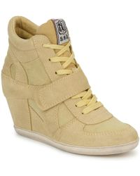 Ash - Bowie Women's Shoes (high-top Trainers) In Yellow - Lyst