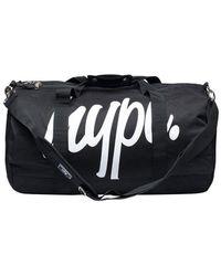 Hype - Men's Script Logo Holdall Bag, Black Men's Travel Bag In Black - Lyst
