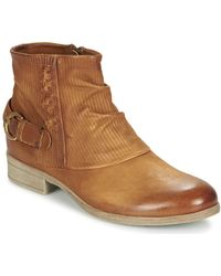 Dream in Green - Giscotto Women's Mid Boots In Brown - Lyst