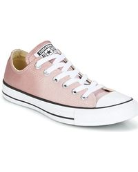 Converse - Chuck Taylor All Star Ox Ombre Metallic Women's Shoes (trainers) In Pink - Lyst
