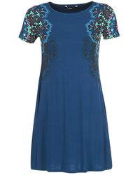 Desigual - Cora Women's Dress In Blue - Lyst