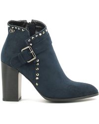 Byblos Blu | 6670p3 Ankle Boots Women Blue Women's Mid Boots In Blue | Lyst