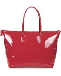 Lacoste - L 12 12 Concept Glitter Women's Shopper Bag In Red - Lyst