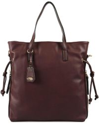 Acqua Di Perla | Apop26468 Bag Big Accessories Bordeaux Men's Bag In Red | Lyst