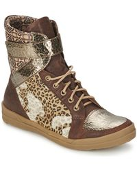 Think! - Kombiboot Women's Mid Boots In Brown - Lyst