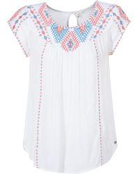 Rip Curl - Talow Beach Shirt Women's Blouse In White - Lyst