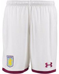 Under Armour - 2017-2018 Aston Villa Home Football Shorts Women's Shorts In White - Lyst