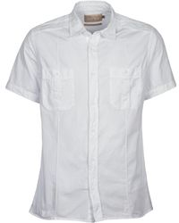 Chevignon - C Military Twil Men's Short Sleeved Shirt In White - Lyst