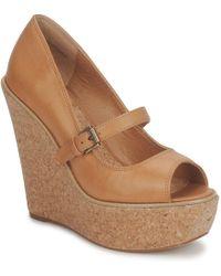 Shellys London | Skyscraper Women's Court Shoes In Brown | Lyst