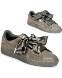 PUMA - Suede Heart Bubble W s Women s Shoes (trainers) In Green - Lyst 739cbf860