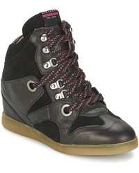 Serafini - Manhattan Women's Shoes (high-top Trainers) In Black - Lyst