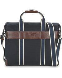 Le Tanneur - Tom Men's Briefcase In Blue - Lyst