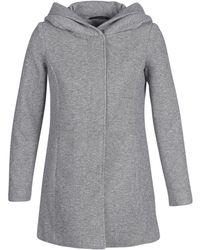 Vero Moda - Vmverodona Women's Coat In Grey - Lyst