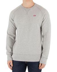 Levi's - Levis Men's Original Icon Sweatshirt, Grey Men's Sweater In Grey - Lyst