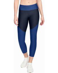Under Armour - Tb Balance Crop Blue Women's Tights In Blue - Lyst