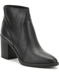 TOWER London - Tower London Womens Black Skin Leather Ankle Boots Women's Low Ankle Boots In Black - Lyst