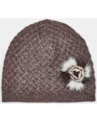 Max & Moi - Hat Hatmink Brown Woman Autumn/winter Collection Women's Beanie In Brown - Lyst