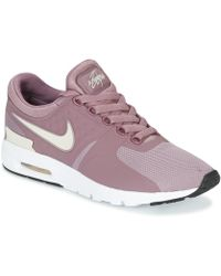low priced ed172 8b324 Nike - Air Max Zero W Women s Shoes (trainers) In Purple - Lyst