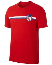 3b3a4195 Nike - 2018-2019 Atletico Madrid Crest Tee Women's T Shirt In Red - Lyst