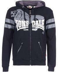 Lonsdale London - Pamber End Men's Sweatshirt In Black - Lyst