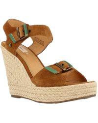 Pepe Jeans - Walker Bluckles Women's Sandals In Brown - Lyst