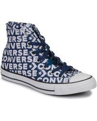 6a054d4a05b7 Converse - Chuck Taylor All Star Wordmark Hi Men s Shoes (high-top Trainers)