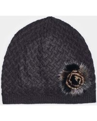 efb923a0e47 Max   Moi - Hat Hatmink Black Woman Autumn winter Collection Women s Beanie  In Black