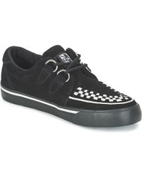 5bba950e2607 T.U.K. - Creepers Trainers Women s Shoes (trainers) In Black - Lyst