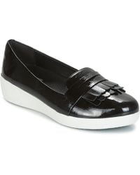 Fitflop - Fringey Sneakerloafer Women's Shoes (pumps / Ballerinas) In Black - Lyst