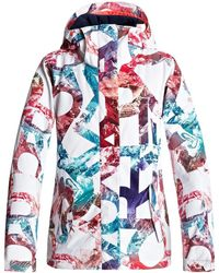 Roxy - Jetty - Chaqueta Para Nieve Erjtj03125 Women's Windbreakers In White - Lyst