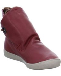 Softinos - Indah Cashmere Women's Low Ankle Boots In Red - Lyst