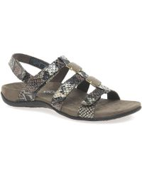 Vionic - Amber Womens Riptape Sandals Women's Sandals In Brown - Lyst