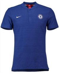 Nike - 2018-2019 Chelsea Authentic Grand Slam Polo Shirt Women's Polo Shirt In Blue - Lyst